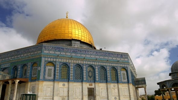 Thumbnail for Clouds Over Dome of the Rock Mosque in Jerusalem