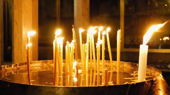 Thumbnail for Burning Candles in Holy Sepulcher Church