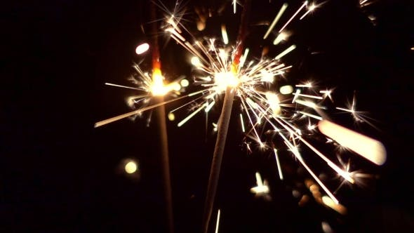 Thumbnail for Sparklers Christmas and New Year Lights