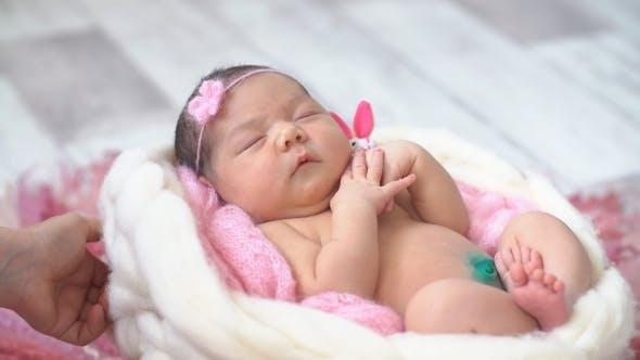 Thumbnail for Little Newborn Baby Sleeping.