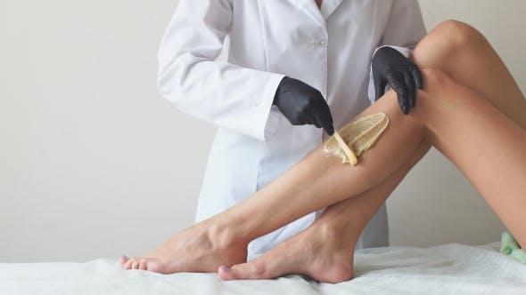 Thumbnail for Sugar Paste. Sugaring, Depilation. Smooth Skin Legs.