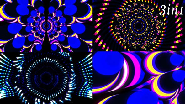 Thumbnail for Abstract Leds - VJ Loop Pack (3in1)
