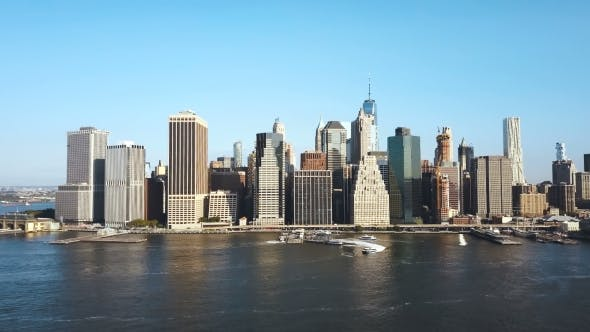 Thumbnail for Aerial View of the New York Downtown