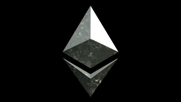 Thumbnail for Ethereum Blockchain Digital Coin Rotating