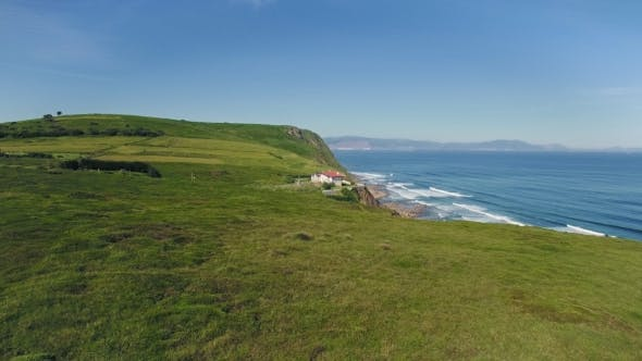 Thumbnail for Beautiful Sunny Day on Coast and House on Cliff