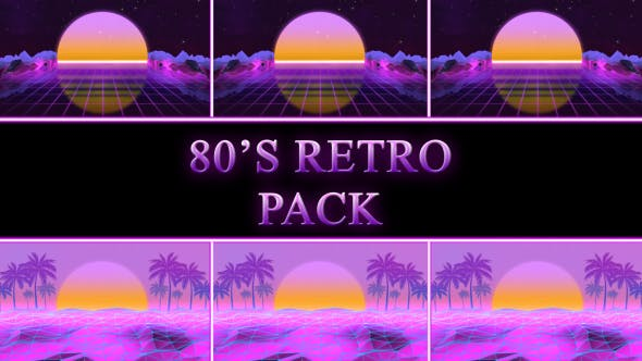 Thumbnail for 80s Retro Background Pack 03