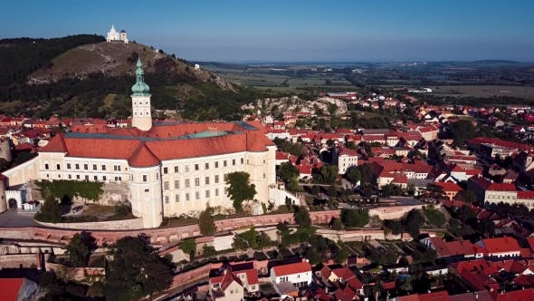 Thumbnail for Aerial View of the Mikulov Castle, South Moravia, Czech Republic.