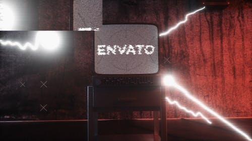 Old Distorted Terror TV Glitch Logo abridor