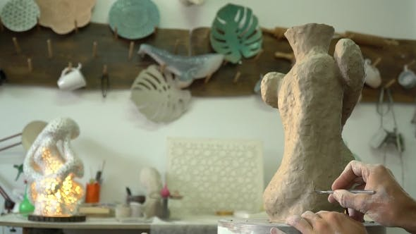 Pottery Process of Making Clay Vase