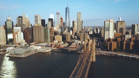 Thumbnail for Aerial View of the Brooklyn Bridge in New York
