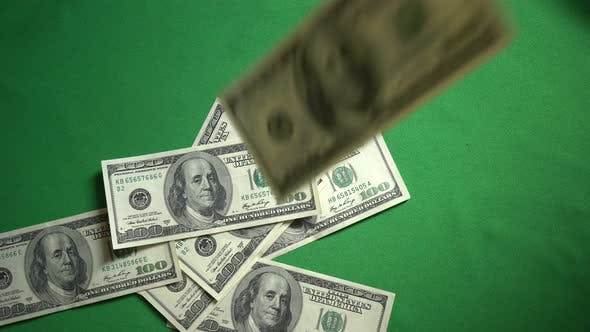 Thumbnail for Falling 100 Dollar Bills Isolated On Chroma Key Green Screen Background