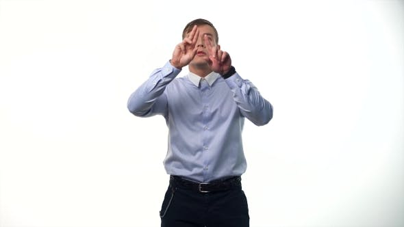 Thumbnail for Man Using an Imaginary Screen