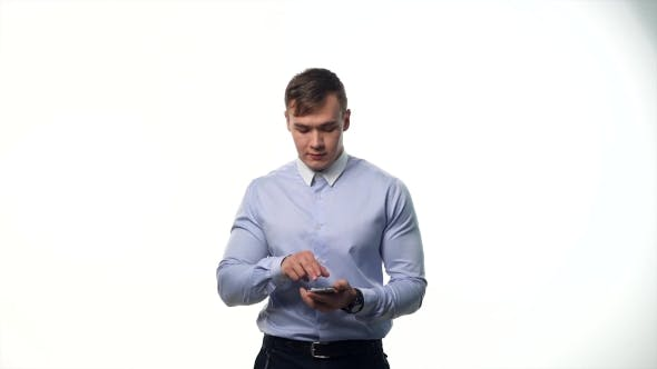 Thumbnail for Man Using Pc Tablet To Open Virtual Options