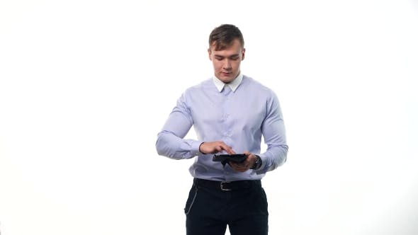 Thumbnail for Man Using Pc Tablet, Technology Concept