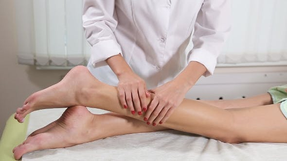 Thumbnail for Foot Massage in the Spa Salon, Foot Spa Treatment.