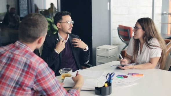 Thumbnail for Group of Business People Meeting in Office
