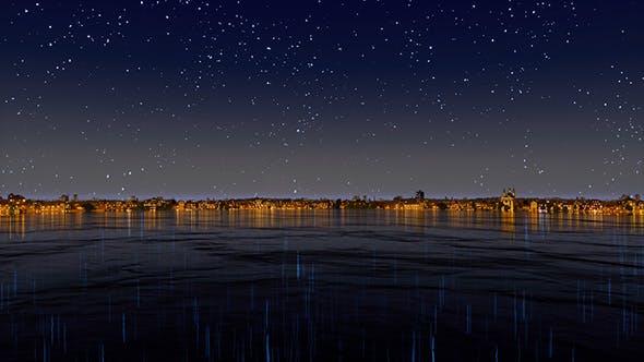 Night Town Lights 4K