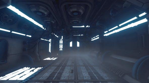 Thumbnail for Blue Sci-Fi Corridor