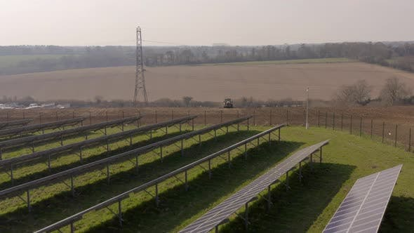 Solar Farm and Arable Farm Flyover