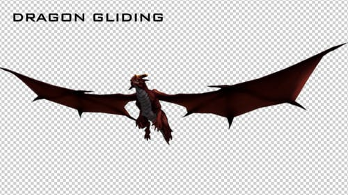 Red Dragon - Glide Animation.