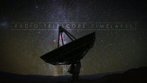Thumbnail for Radio Telescope Starry Night Timelapse
