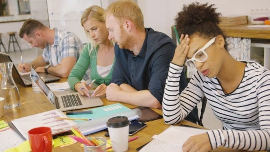 Thumbnail for Young People Working Hard in Office
