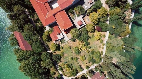 Thumbnail for Aerial View of Visovac Monastery on Krka River, Croatia