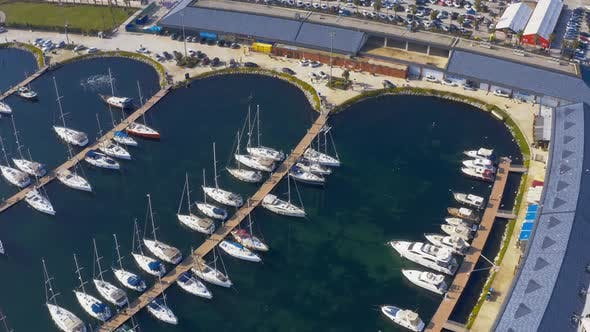 Thumbnail for Istanbul Maltepe Bosphorus Aerial View Marina And Yachts