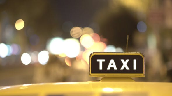 Night City Taxi Cab