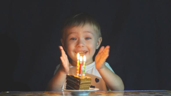 Thumbnail for Happy Adorable Kid Celebrating His Birthday.