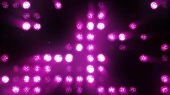 Thumbnail for Bright Purple Floodlights Flashing