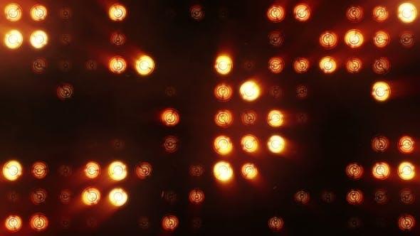 Thumbnail for Bright Orange Floodlights Flashing