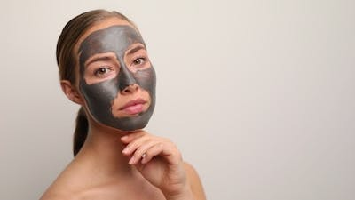 Lady with Face Mask