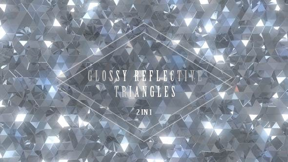 Thumbnail for Glossy Reflective Silver Triangles