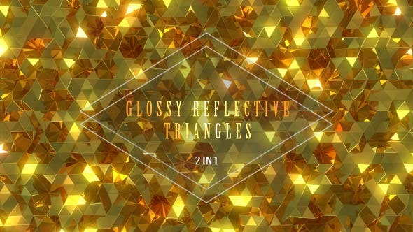 Thumbnail for Glossy Reflective Golden Triangles