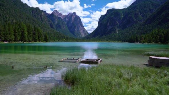 Thumbnail for Lake Dobbiaco in the Dolomites, Italy