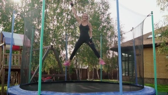 Thumbnail for Woman Jumping on a Trampoline