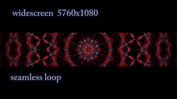 Thumbnail for Widescreen Red Pattern with White Lines