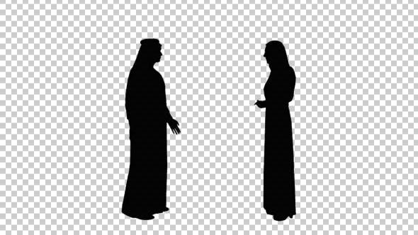 Arab Pair Talking