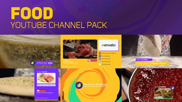 Thumbnail for Youtube Food Channel Package