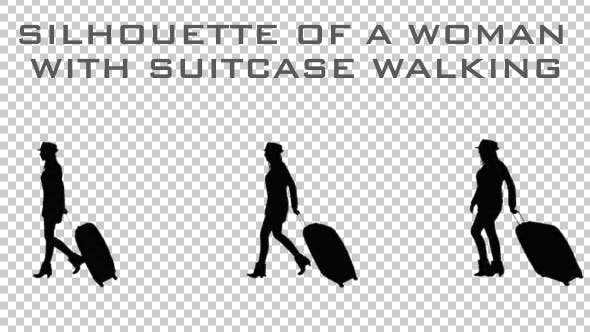 Thumbnail for Silhouette of a Woman With Suitcase