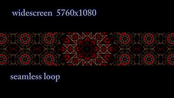 Thumbnail for Widescreen Red Geometric Pattern