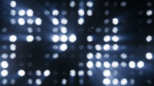 Bright Floodlights Flashing