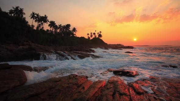 Thumbnail for Beautiful Sunset on a Tropical Beach