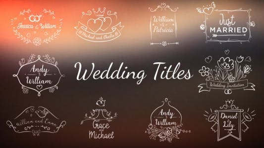 Thumbnail for Wedding/Romantic Titles