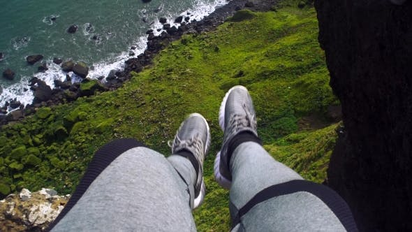 Thumbnail for Feet Above Cliff Precipice and Atlantic Ocean