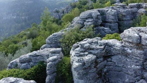 Incredible Grey Rock Formations
