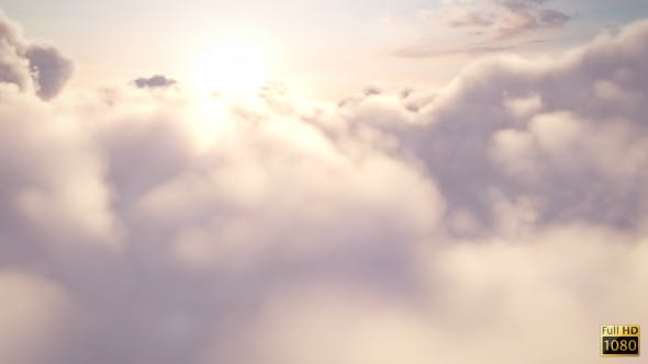Fly Through Above Clouds