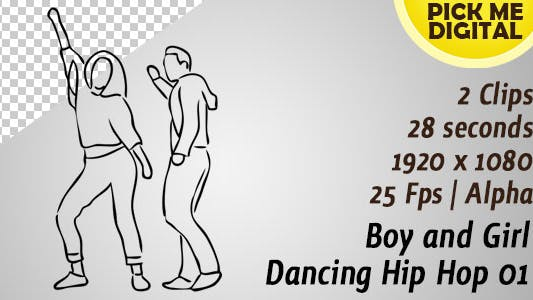 Thumbnail for Boy and Girl Dancing Hip Hop 01