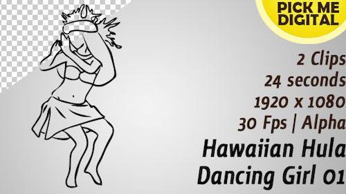 hawaïen hula danse fille 01